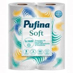 Prosop bucatarie Pufina Soft, 2 role, 2 straturi