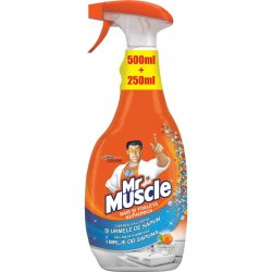 Solutie de curatare Mr Muscle Baie si Toaleta, 500 ml+250 ml