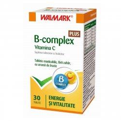 Supliment alimentar B Complex + Vitamina C Plus Walmark, 30 tablete