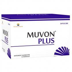 Supliment alimentar Muvon Plus Sun Wave Pharma, 30 plicuri