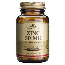 Supliment alimentar Zinc Gluconate 50mg Solgar, 100 tablete