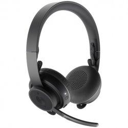 Casti Logitech Zone Wireless, USB + Bluetooth, ANC, incarcare wireless Qi