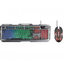 Kit gaming mouse&tastatura Trust GXT 845 Tural, Negru