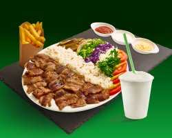Meniu farfurie vită cu orez - Helal image