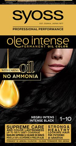 Syoss Color Oleo Intense vopsea de par permanenta fara amoniac  1-10 Negru Intens 1buc