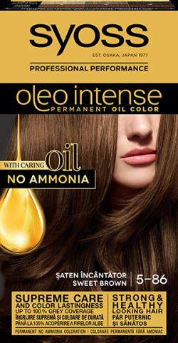 Syoss Color Oleo Intense vopsea de par permanenta fara amoniac 5-86 Saten Incantator 1buc