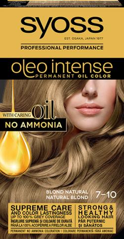 Syoss Color Oleo Intense vopsea de par permanenta fara amoniac 7-10 Blond Natural1buc