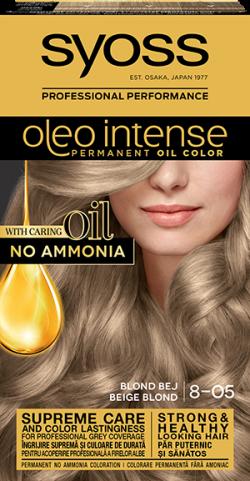 Syoss Color Oleo Intense vopsea de par permanenta fara amoniac 8-05 Blond Bej 1buc