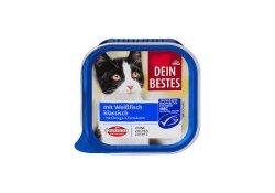 Dein Bestes hrana pentru pisici cu peste alb 100g image
