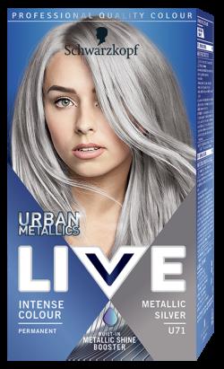 Live Color Vopsea de par permanenta U71 Metallic Silver 1buc
