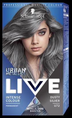 Live Color Vopsea de par permanenta U72 Dusty Silver 1buc