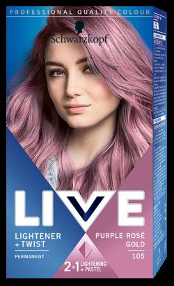Live Color Vopsea de par permanenta 105 Purple Rose Gold 1buc
