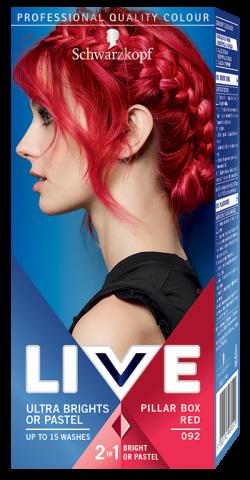 Live Color Vopsea de par semipermanenta 092 Pillar Box Red 1buc