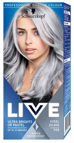 Live Color Vopsea de par semipermanenta 098 Steel Silver 1buc