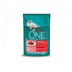 One sterilcat hrana umeda cu somon pentru pisica 85 image