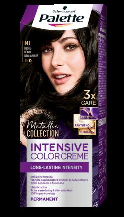 Palette Intensive Color Cream  vopsea de par permanenta N1 negru 1buc
