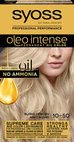 Syoss Color Oleo Intense vopsea de par permanenta fara amoniac 10-50 Blond Cenusiu 1buc