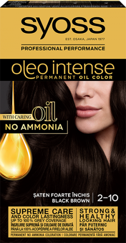 Syoss Color Oleo Intense vopsea de par permanenta fara amoniac 2-10 Saten Foarte Inchis 1buc