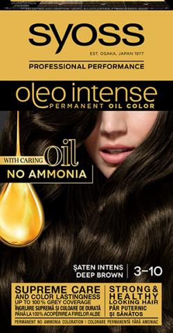 Syoss Color Oleo Intense vopsea de par permanenta fara amoniac 3-10 Saten Intens 1buc