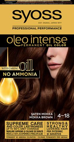 Syoss Color Oleo Intense vopsea de par permanenta fara amoniac  4-18 Saten Mokka 1buc