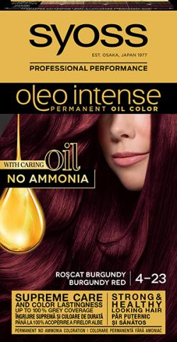 Syoss Color Oleo Intense vopsea de par permanenta fara amoniac 4-23 Roscat Burgundy 1buc