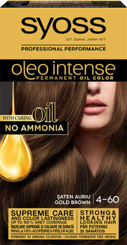 Syoss Color Oleo Intense vopsea de par permanenta fara amoniac 4-60 Saten Auriu 1buc