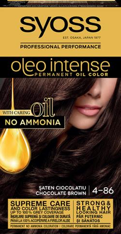 Syoss Color Oleo Intense vopsea de par permanenta fara amoniac 4-86 Saten Ciocolatiu 1buc