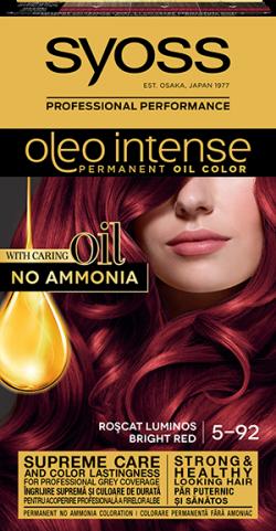 Syoss Color Oleo Intense vopsea de par permanenta fara amoniac 5-92 Roscat Luminos 1buc