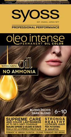 Syoss Color Oleo Intense vopsea de par permanenta fara amoniac 6-10 Blond Inchis 1buc