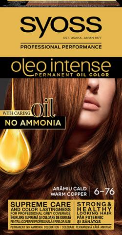 Syoss Color Oleo Intense vopsea de par permanenta fara amoniac 6-76 Aramiu Cald 1buc