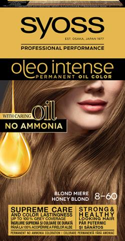 Syoss Color Oleo Intense vopsea de par permanenta fara amoniac 8-60 Blond Miere 1buc