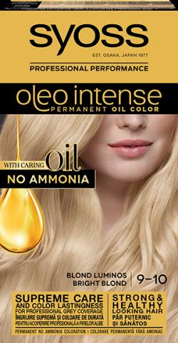Syoss Color Oleo Intense vopsea de par permanenta fara amoniac 9-10 Blond Luminos 1buc