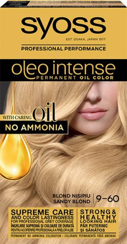 Syoss Color Oleo Intense vopsea de par permanenta fara amoniac 9-60 Blond Nisipiu 1buc