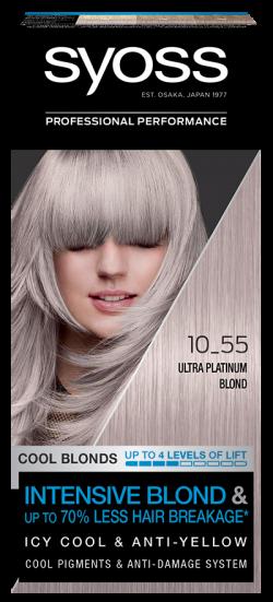 Syoss Color vopsea de par pemanenta 10-55 Ultraplatinum Blond 1buc