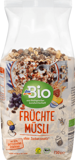 dmBio musli cu fructe  ECO 750g image