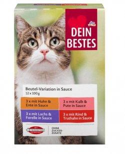 Dein Bestes hrană cu pește în sos pentru pisici 12x100g image