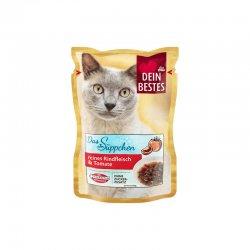 Dein Bestes hrana pisici cu supa de vita si rosii 40g image