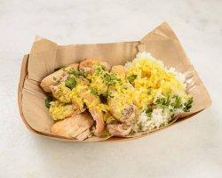 Pui cu orez și sos curry image
