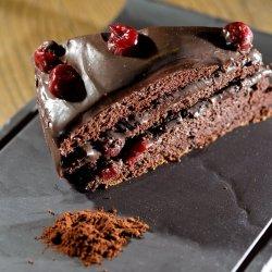 Torta al cioccolato e ciliegie image