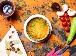 Supa clară de pui cu tăiței de casă image