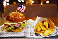 American egg burger image