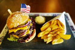 Double stack burger image