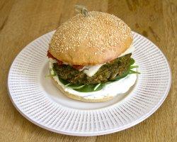Cheesy greeny burger image