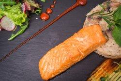 Creamy salmon risotto   image