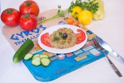 Salată de vinete în stil grecesc image