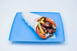 Souvlaki cu pui și bacon pita image
