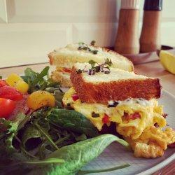 Veggie egg sandwich image