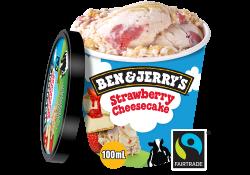 Ben & jerrys strawberry cheesecake image