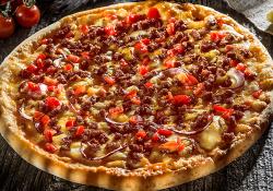 Burger pizza Blat pufos mica (25 cm) image