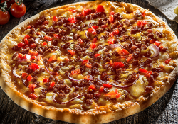 Burger pizza Blat pufos mare (38 cm) image